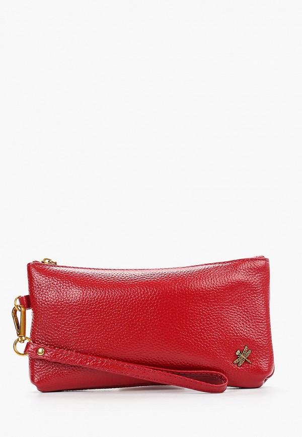 женский кошелёк dino ricci, красный