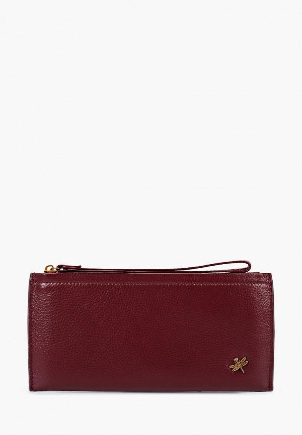 женский кошелёк dino ricci, бордовый