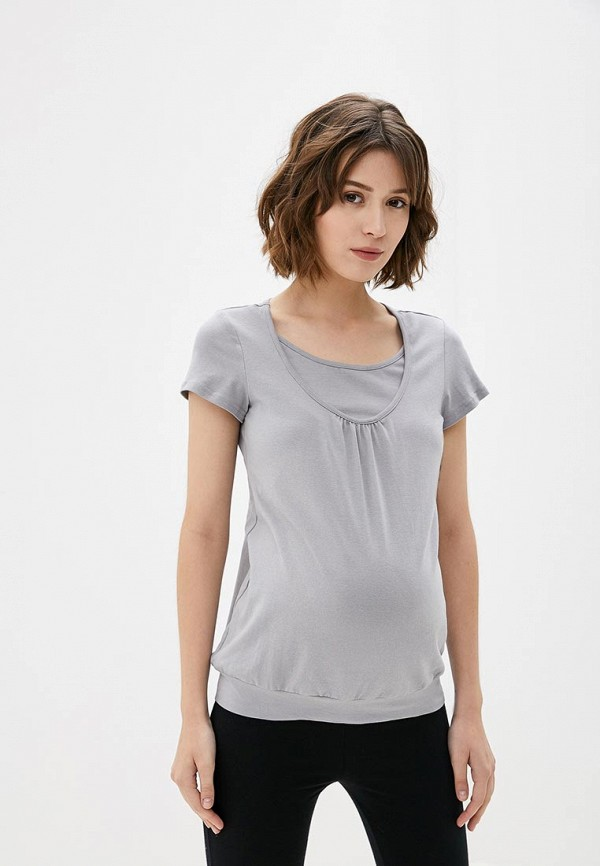 Фото - Женскую футболку 9Месяцев 9Дней серого цвета
