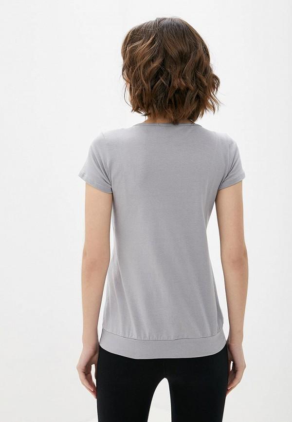 Фото 3 - Женскую футболку 9Месяцев 9Дней серого цвета