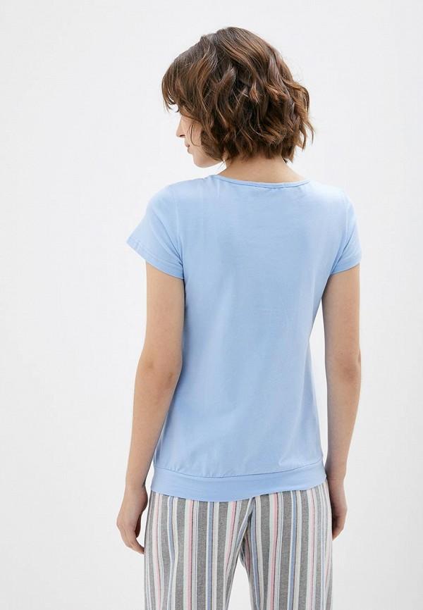 Фото 3 - Женскую футболку 9Месяцев 9Дней голубого цвета