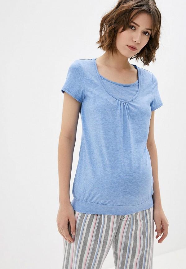 женская футболка 9месяцев 9дней, голубая