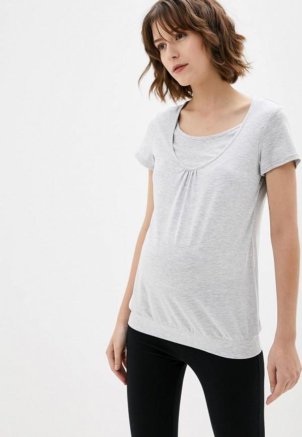 женская футболка 9месяцев 9дней, серая