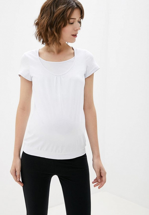 женская футболка 9месяцев 9дней, белая