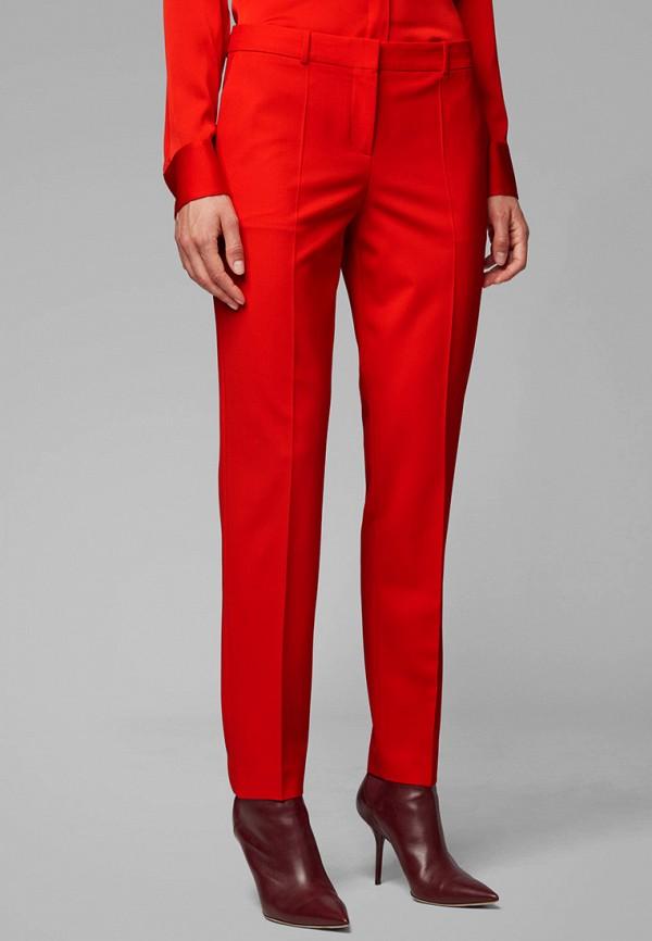 женские брюки boss, красные