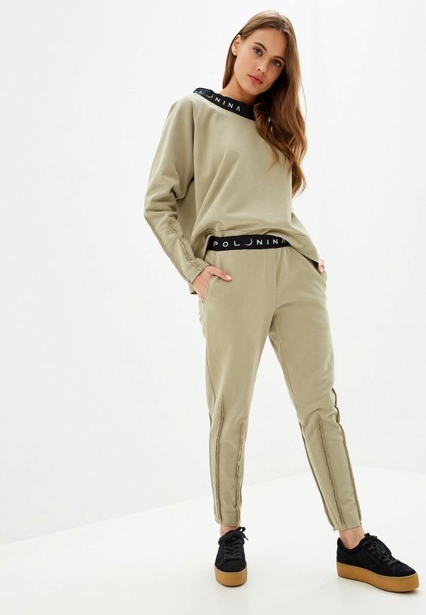 женский спортивный костюм polunina, хаки