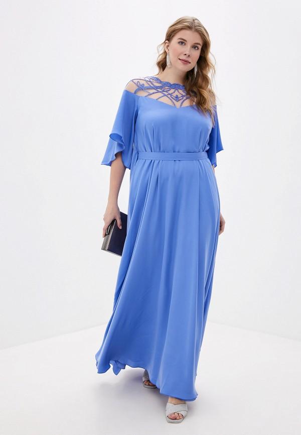 женское платье seam, голубое