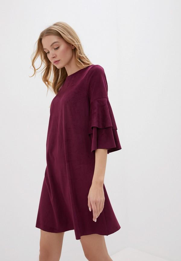 женское платье forus, бордовое