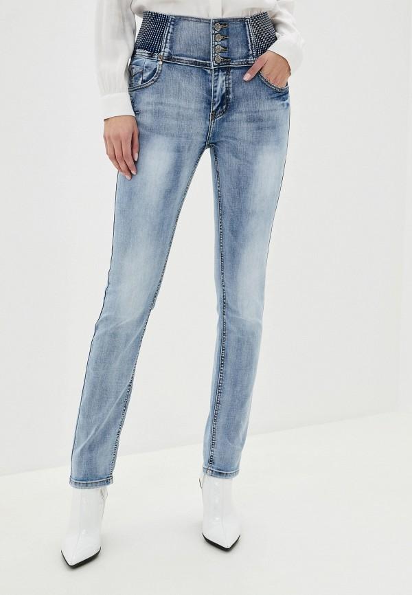 женские джинсы скинни pavli, голубые