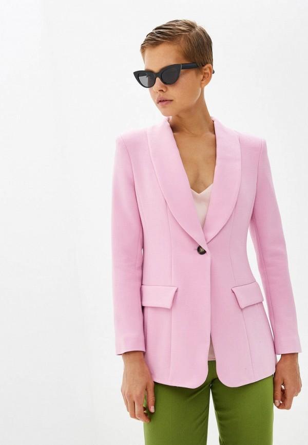 женский пиджак gepur, розовый