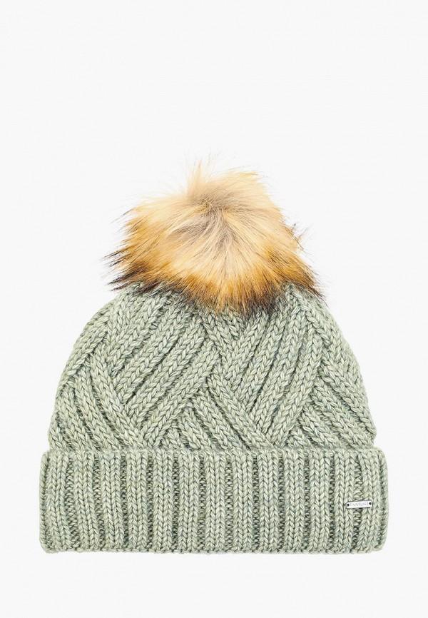 женская шапка finn flare, зеленая