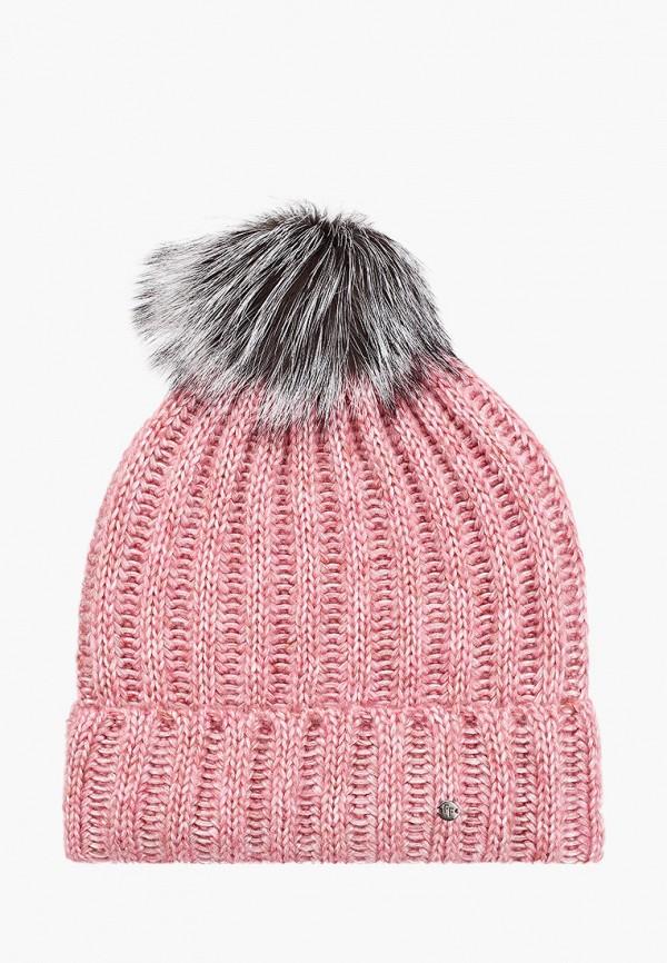 женская шапка finn flare, розовая