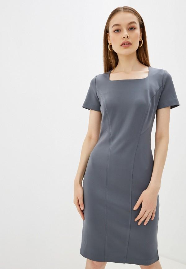 платье платье-футляр арт-деко, серое