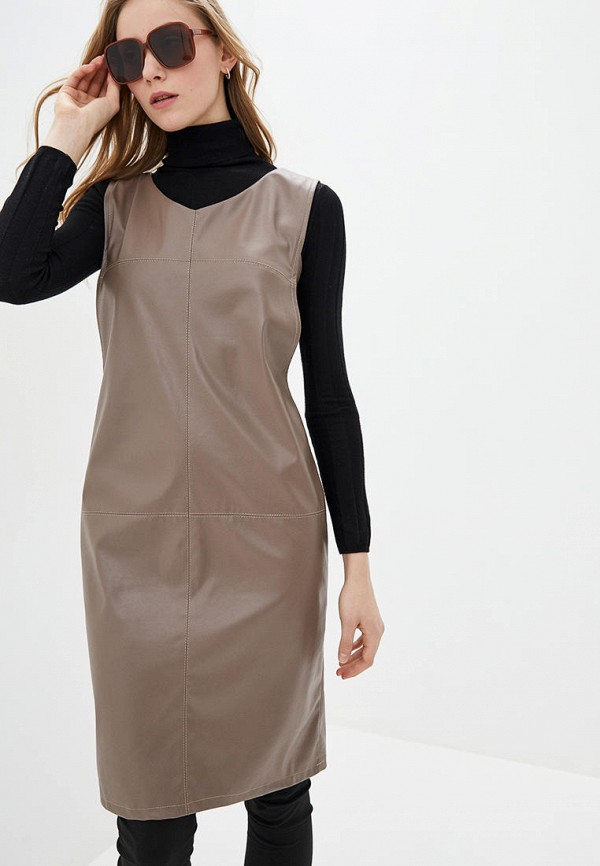 женское платье modniy oazis, бежевое