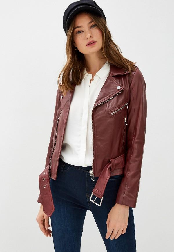 женская куртка la reine blanche, бордовая