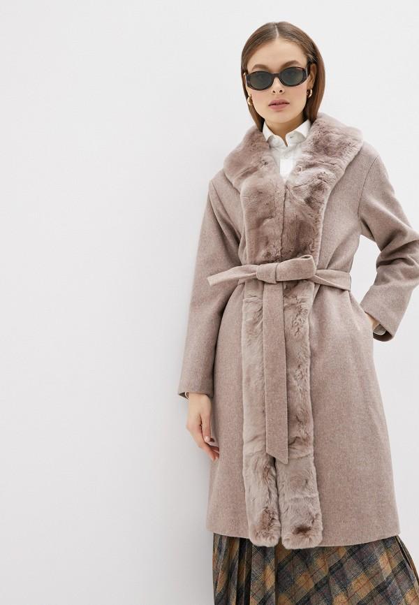женское пальто acasta, бежевое