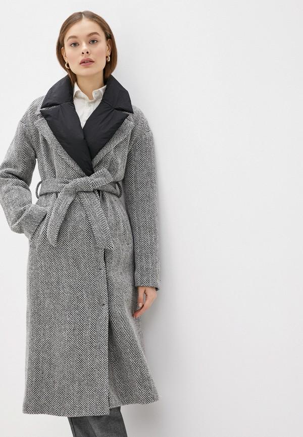 женское пальто acasta, серое