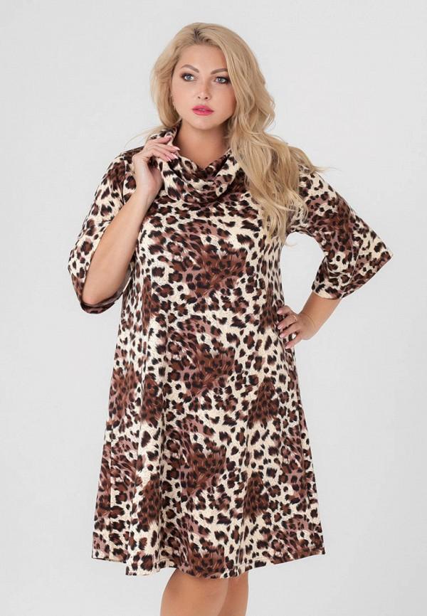 женское платье sparada, коричневое