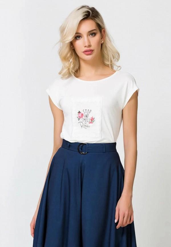 женская футболка remix, белая