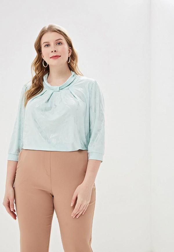 женская блузка olsi, бирюзовая