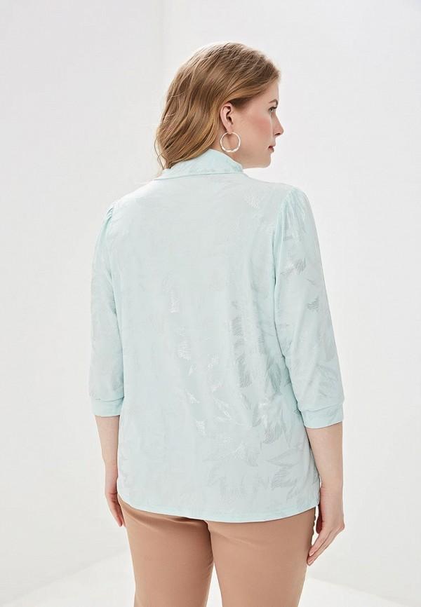 Блуза Olsi цвет бирюзовый  Фото 3
