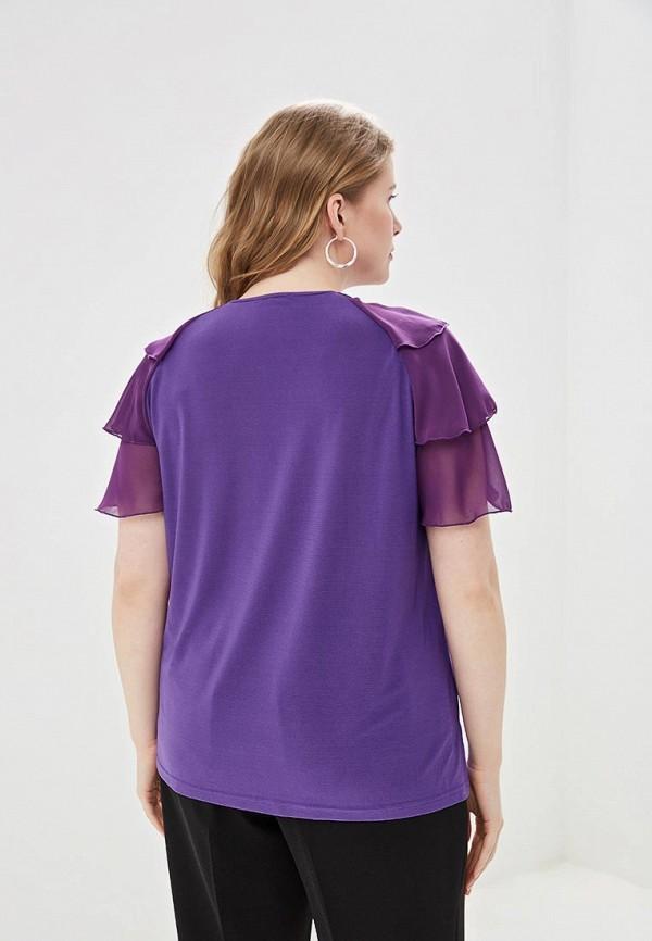 Блуза Olsi цвет фиолетовый  Фото 3