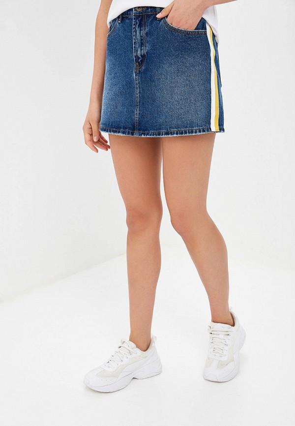 женская джинсовые юбка tom farr, синяя