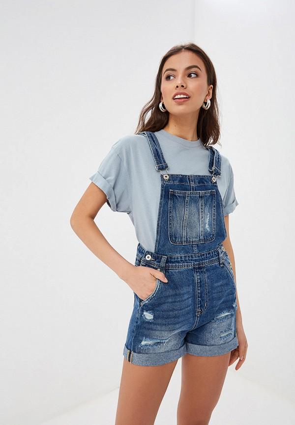 женский джинсовые комбинезон tom farr, синий