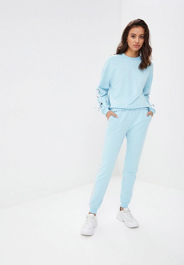 женский спортивные спортивный костюм tom farr, голубой
