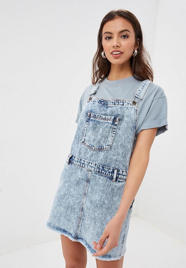 женский джинсовые сарафан tom farr, голубой