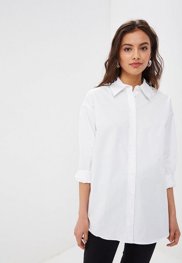 женская рубашка с длинным рукавом tom farr, белая