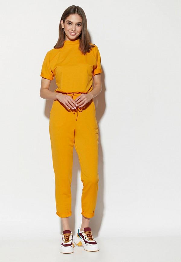 женский спортивные комбинезон karree, желтый