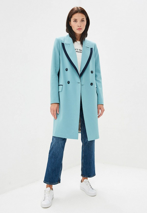 Пальто Ruxara цвет бирюзовый  Фото 2
