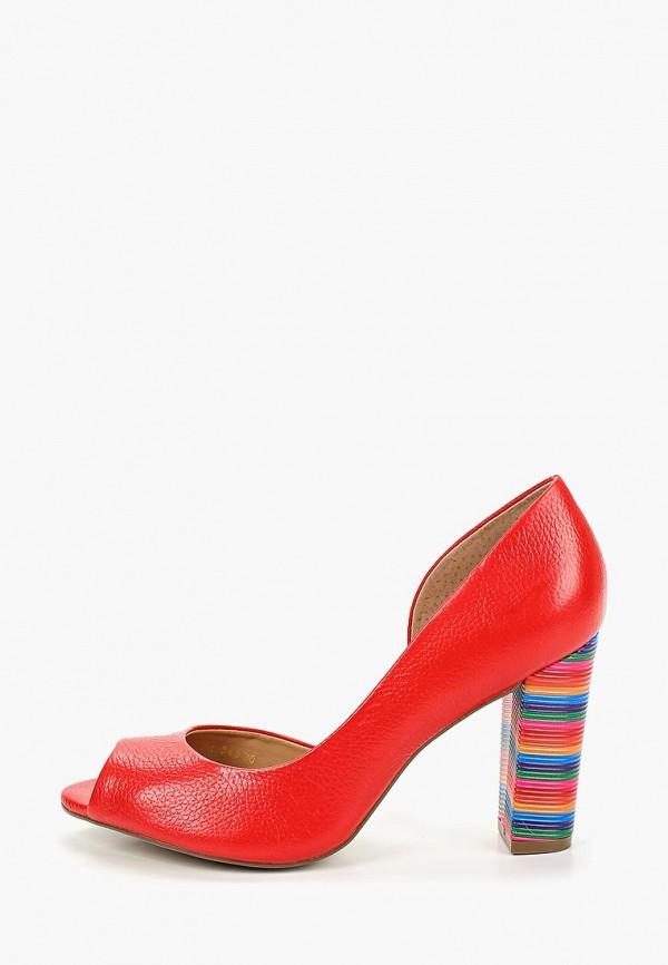 женские туфли indiana, красные