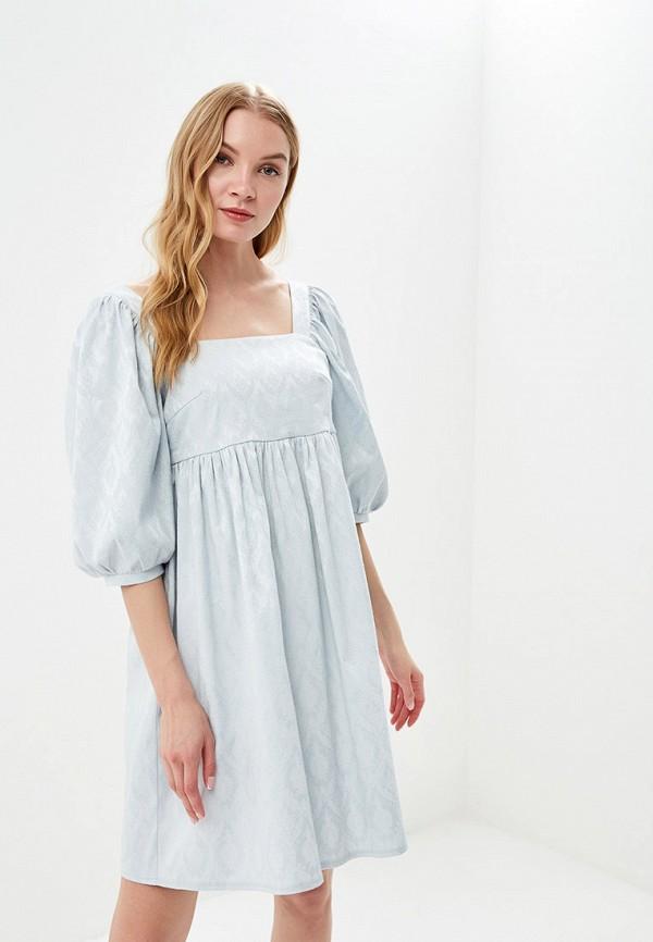 женское повседневные платье мадам т, бирюзовое