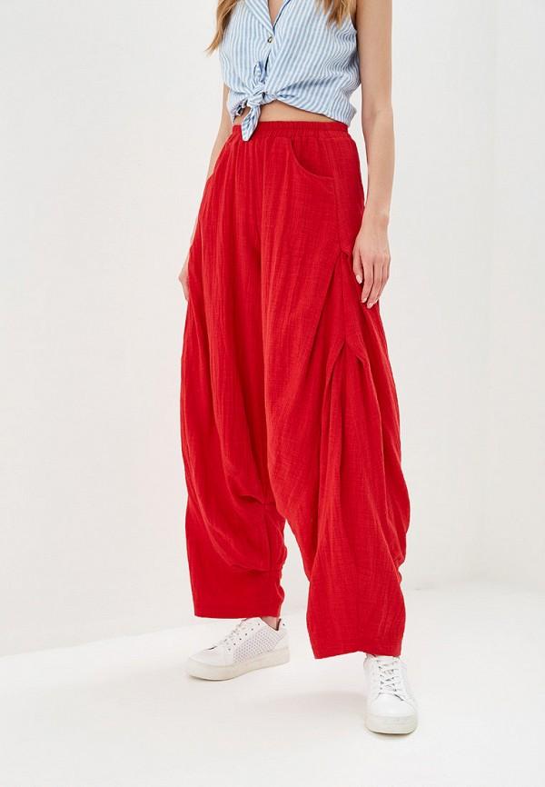 женские повседневные брюки мадам т, красные