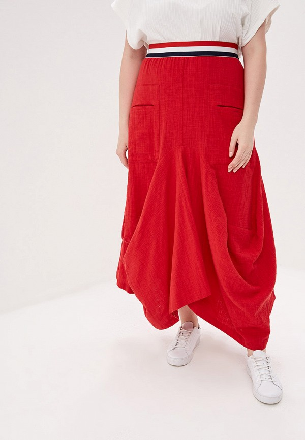 женская юбка мадам т, красная