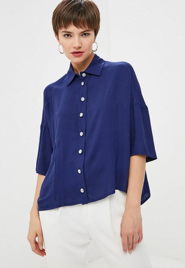 женская блузка мадам т, синяя