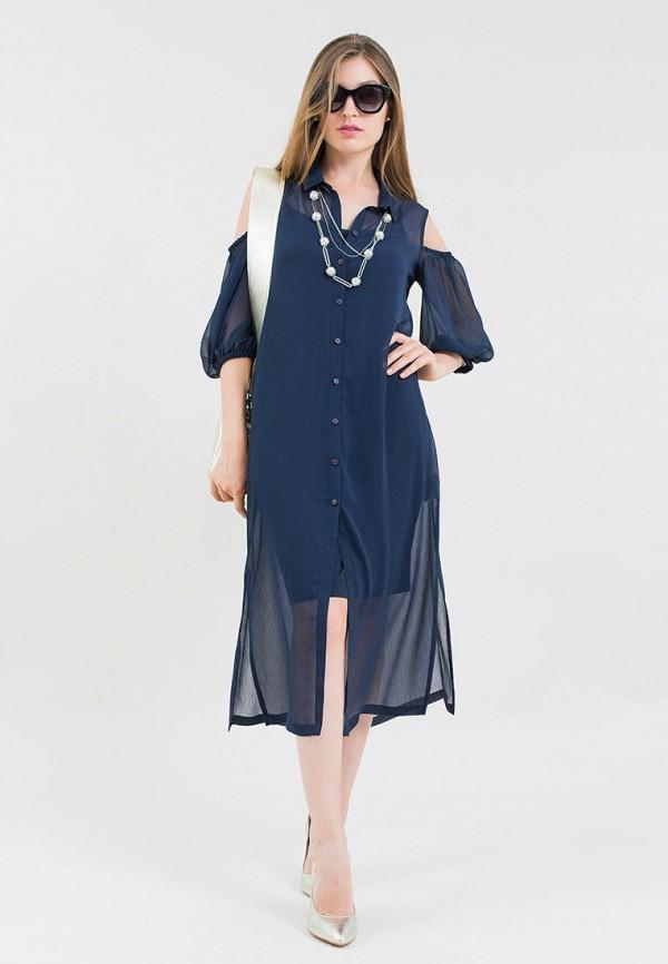 женское платье maxa, синее