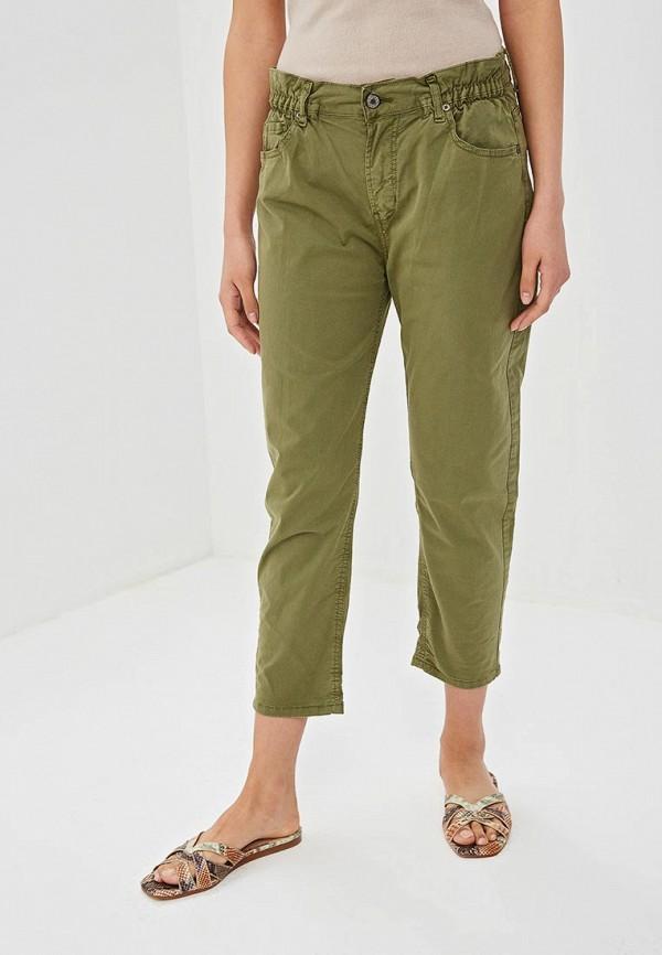 Фото - Женские брюки EMI зеленого цвета