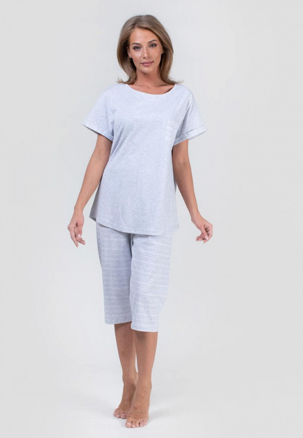 Костюм домашний Vienetta Vienetta MP002XW12BYC домашний комплект женский vienetta s secret lulu кофта брюки цвет серый меланж 802082 0125 размер xl 50