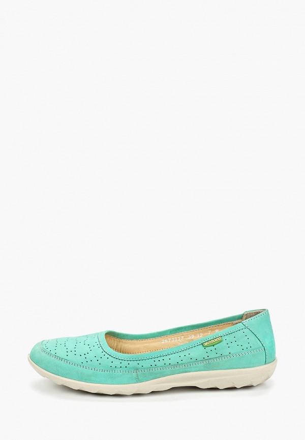 женские туфли woodland, бирюзовые