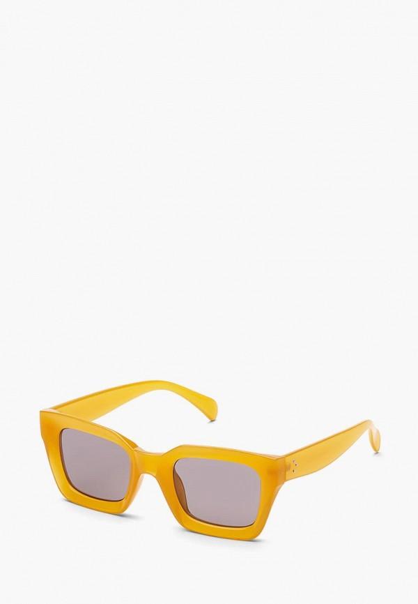 женские квадратные солнцезащитные очки nothing but love, желтые