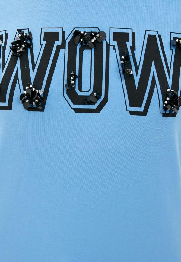 Футболка Whitney цвет голубой  Фото 4