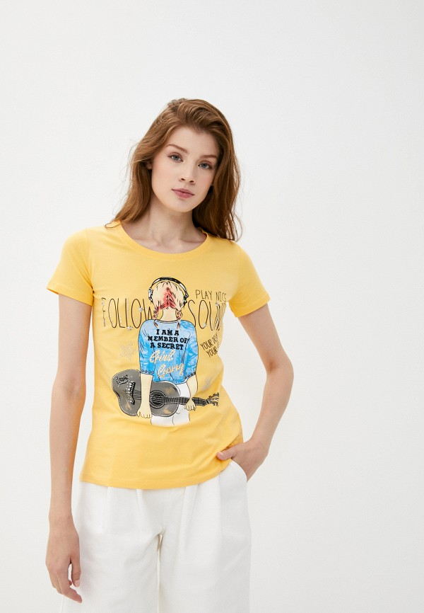 Футболка Whitney цвет желтый