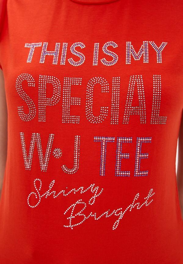 Футболка Whitney цвет красный  Фото 4