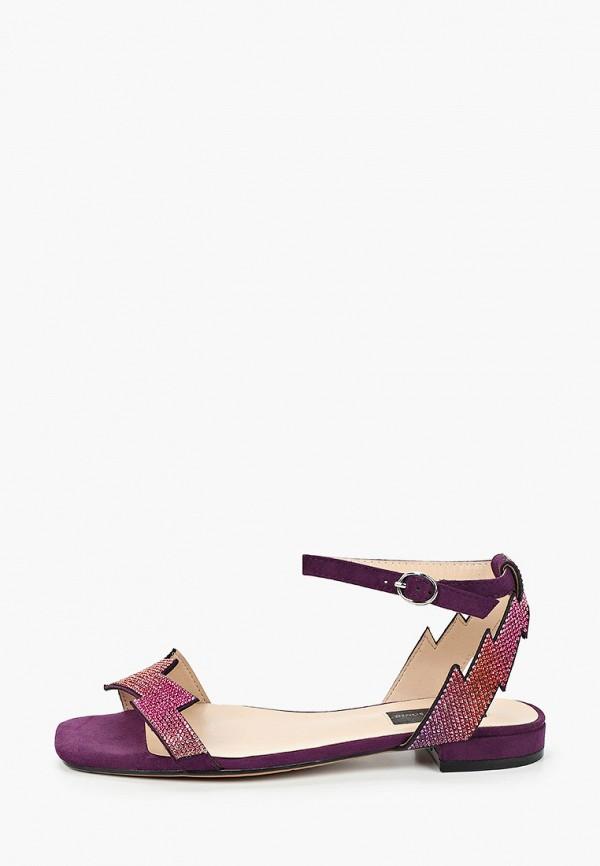 женские сандалии marco bonne', фиолетовые