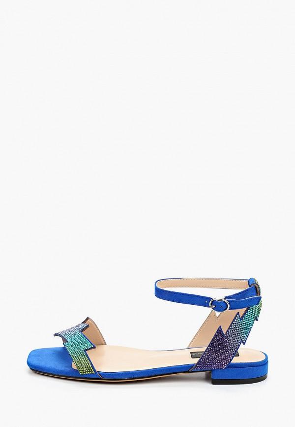 женские босоножки marco bonne', синие