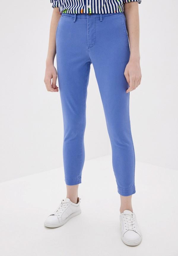 женские повседневные брюки polo ralph lauren, голубые