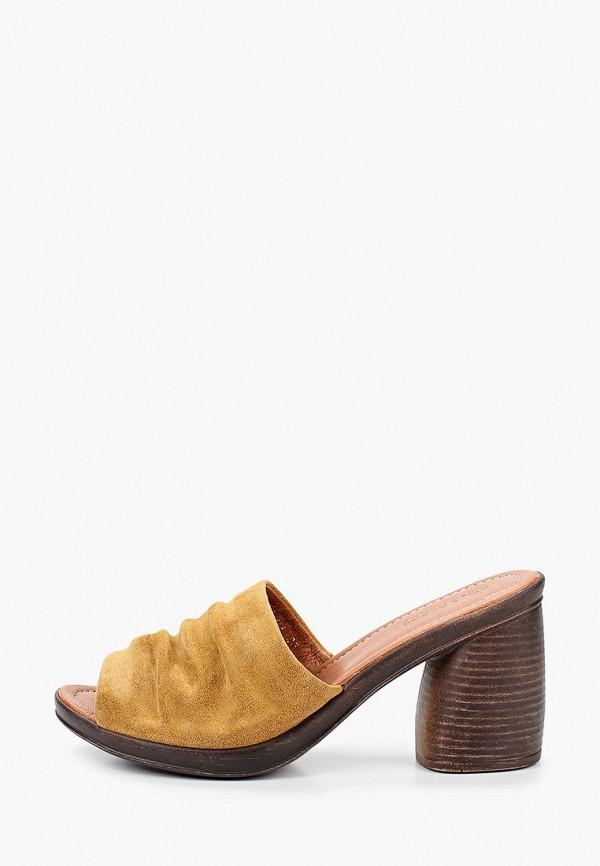 женское сабо dino ricci, коричневое